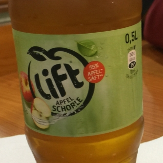 Lift! Apple juice and seltzer, better known as apfelscholle! theeee best!